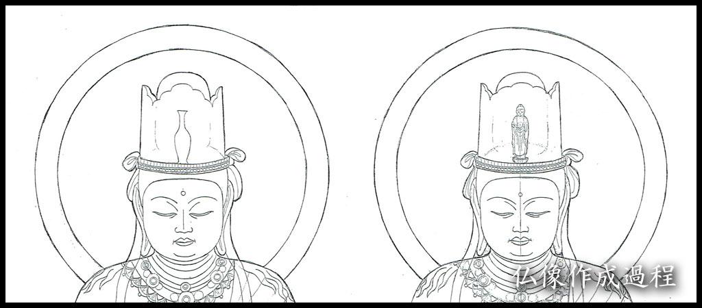 仏像作成過程